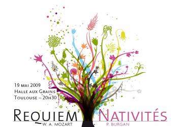 Affiche élément Requiem Mozart et Nativités Burgan 2009