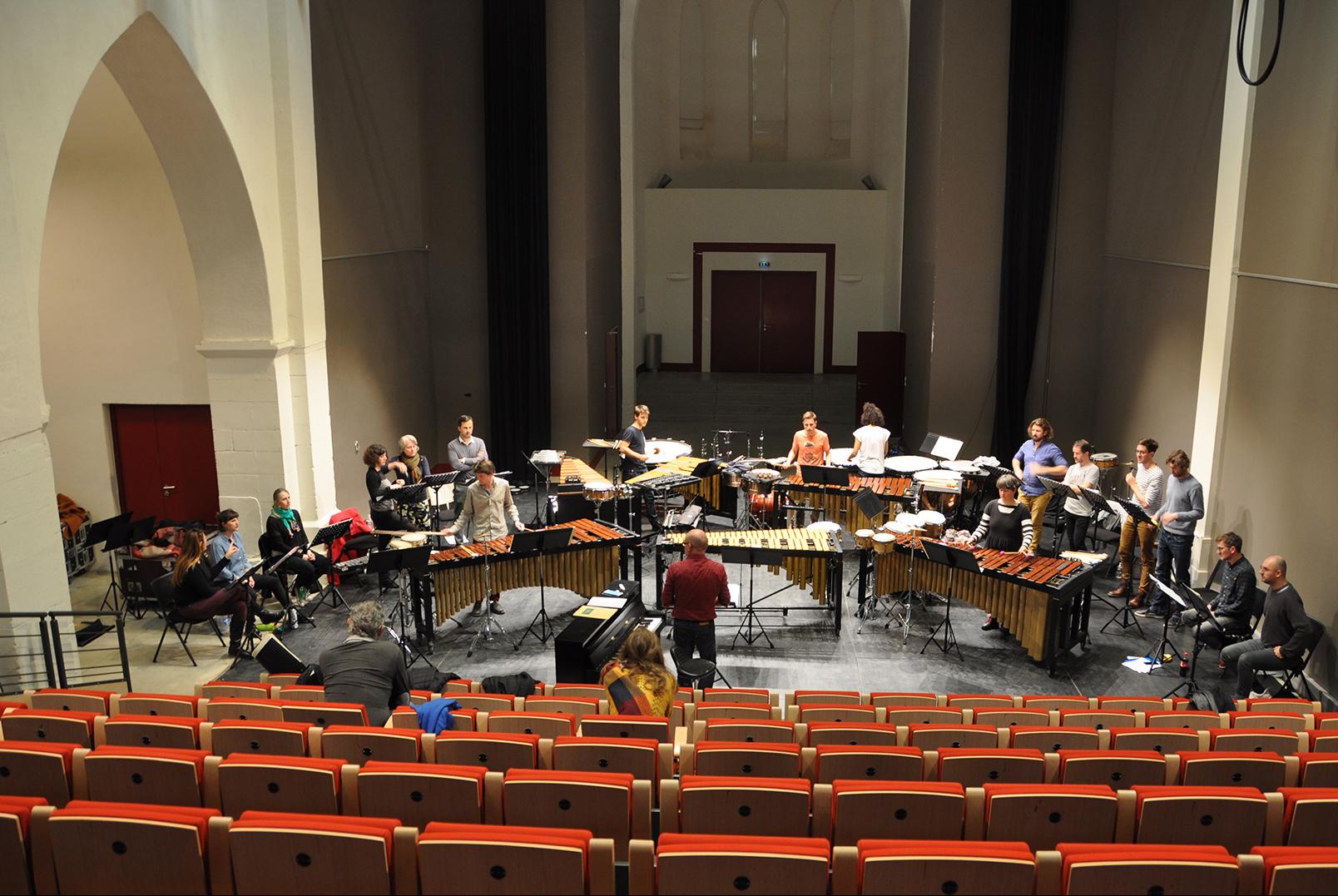 Répétition à Sorèze avec les Percussions Claviers de Lyon © Juliette Magniez
